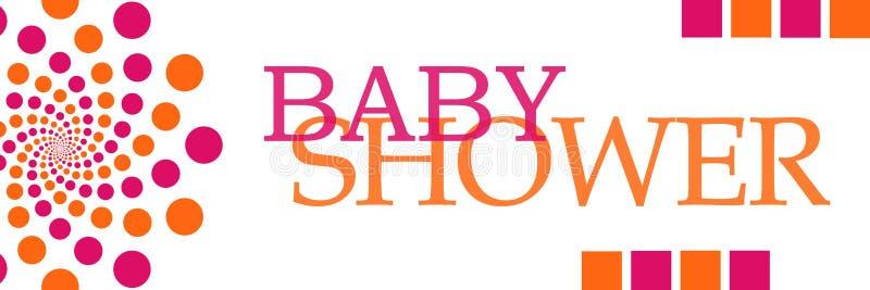 Babydouche Roze Oranje Dots Horizontal vector illustratie