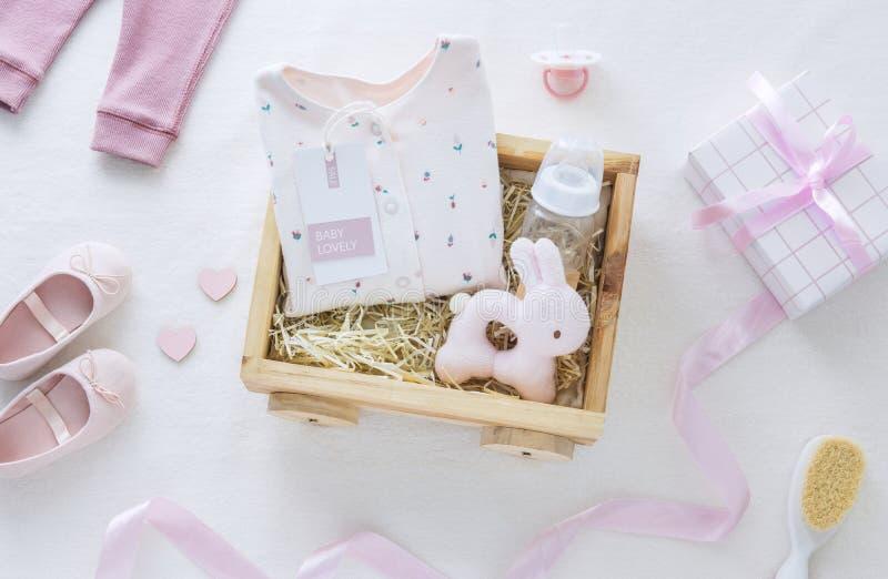 Babydouche voor een babymeisje stock foto