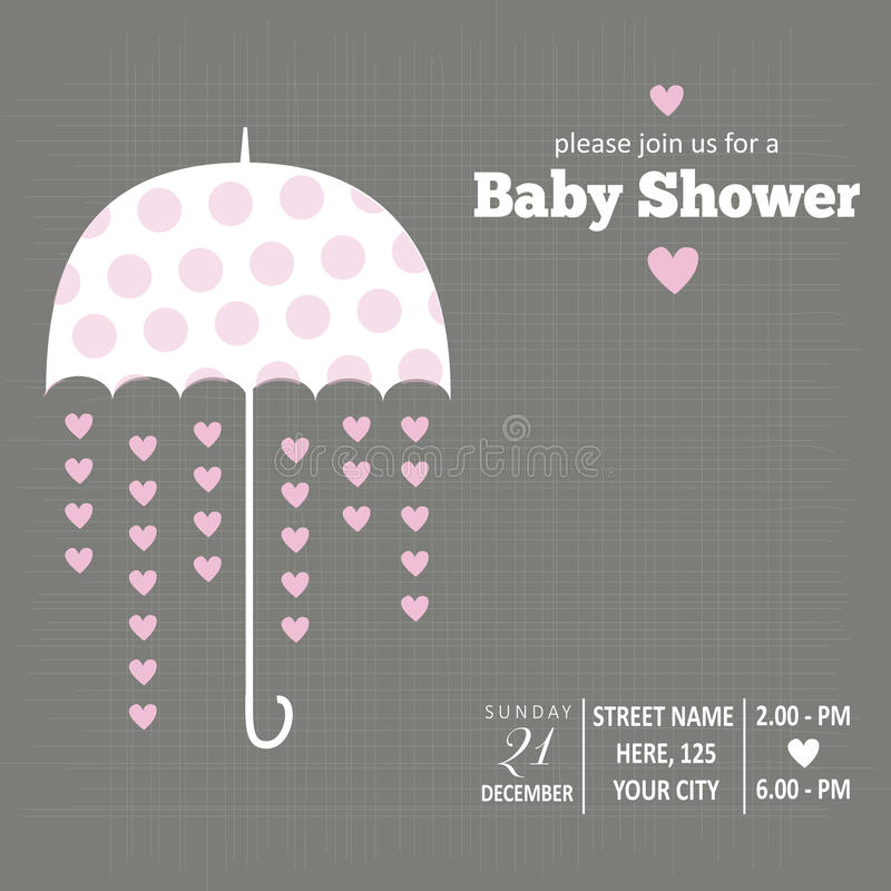 Babyeinladung für Babyparty vektor abbildung
