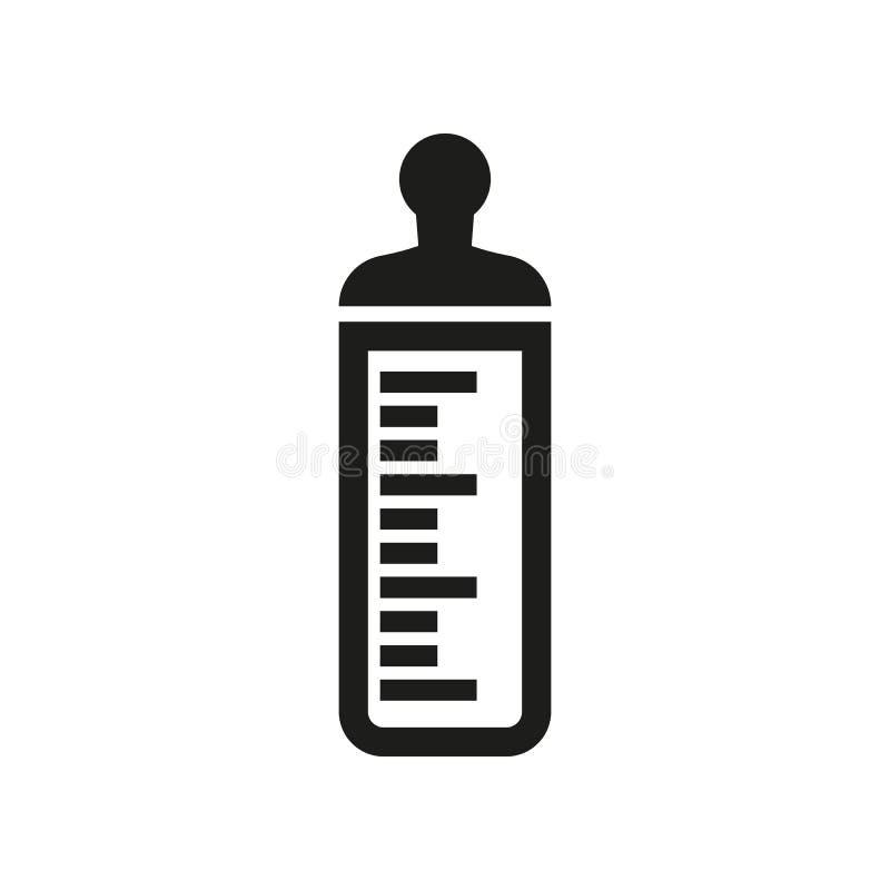 Babyflaschenikone BabyMilchflaschedesign Babywasserflaschensymbol web graphik jpg ai app zeichen nachricht flach vektor abbildung