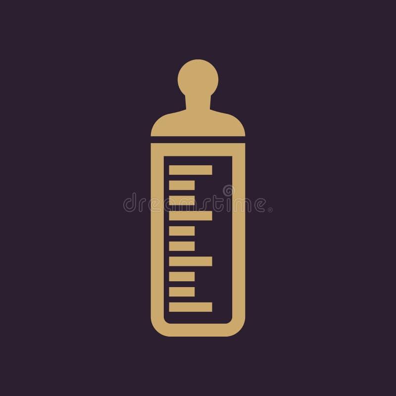 Babyflaschenikone BabyMilchflaschedesign Babywasserflaschensymbol web graphik jpg ai app zeichen nachricht flach stock abbildung