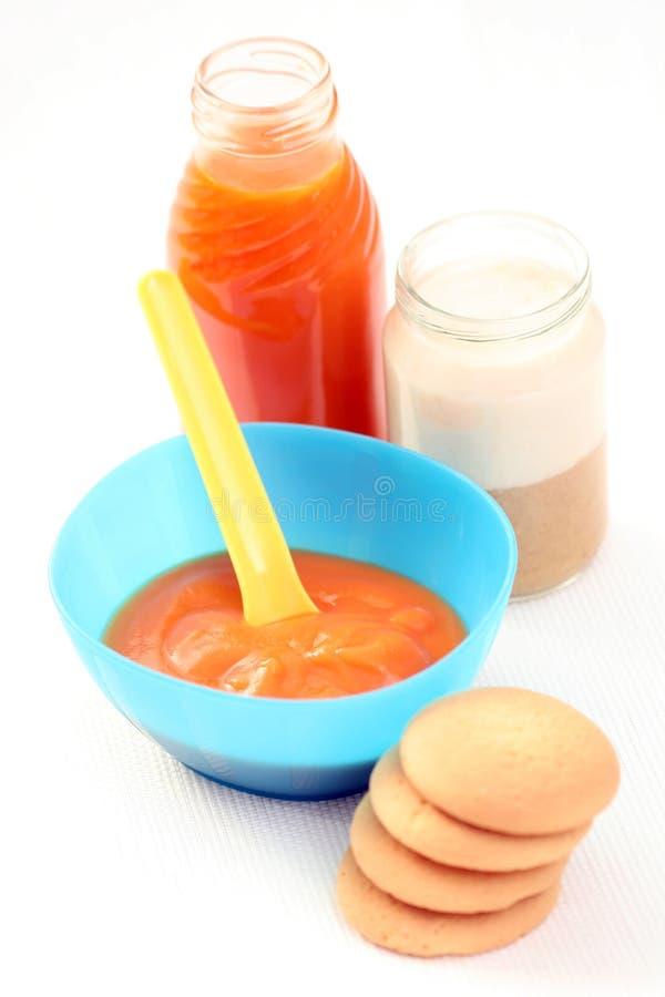 babyfood arkivbild