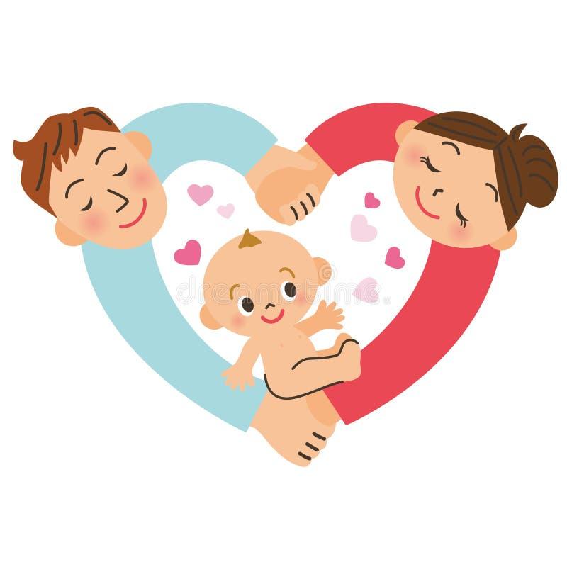 Babygeboorte stock illustratie