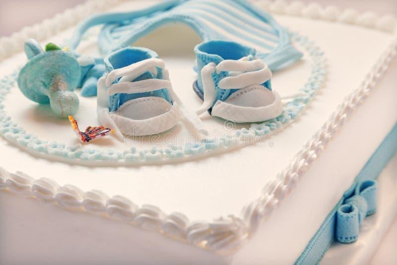 Babygeburtstagskuchen stockbild