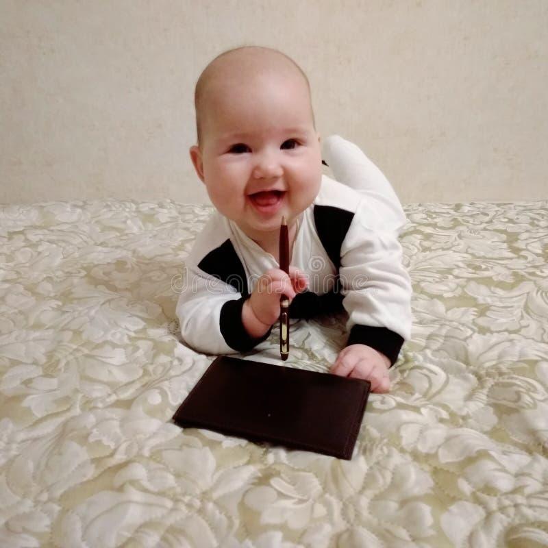 Babygeschäftsmann lizenzfreies stockbild