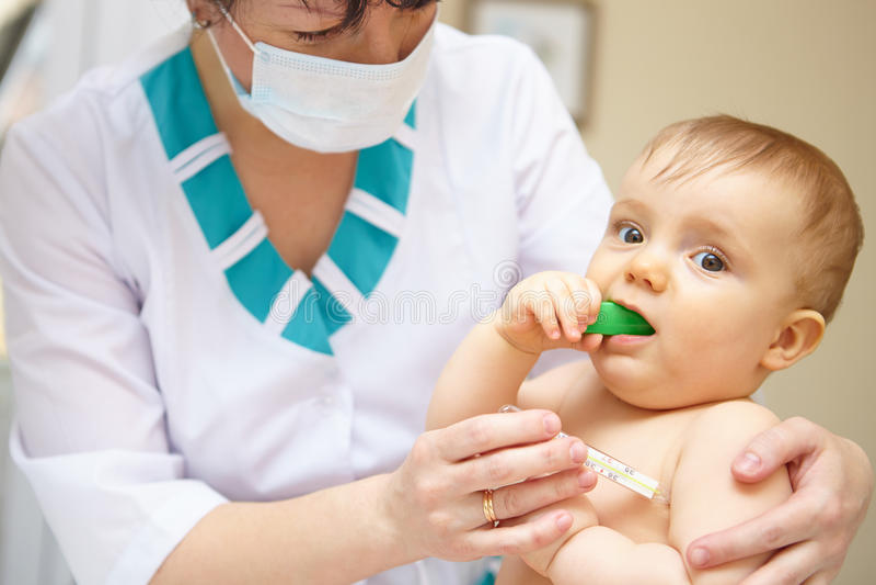 Babygezondheidszorg en behandeling. Medische symptomen. royalty-vrije stock afbeeldingen
