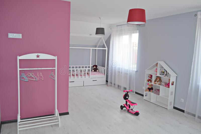 Babygirl room/ Princess Room/  children room stock photo