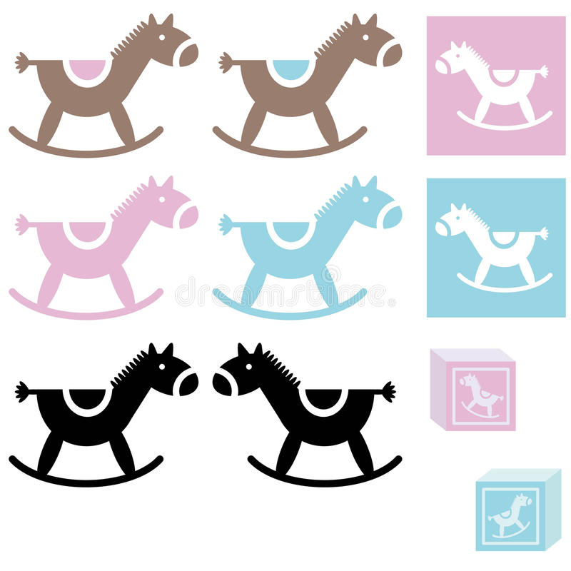 BabyHorseToy stock illustration
