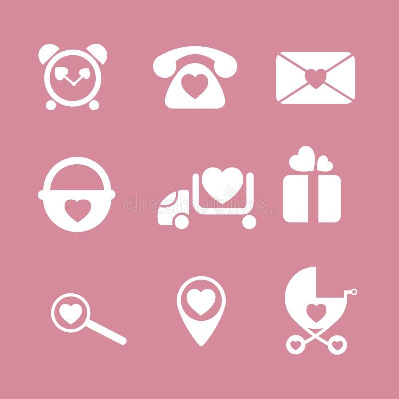 Babyikonenschnittstellen-Kinderkind lizenzfreies stockbild