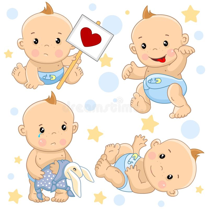Babyjongen 2 deel stock illustratie