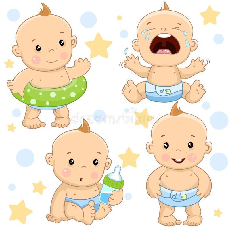 Babyjongen 4 deel royalty-vrije illustratie