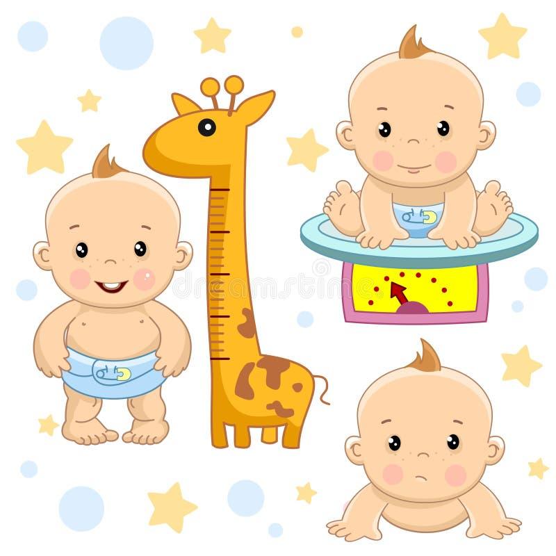 Babyjongen 5 deel royalty-vrije illustratie