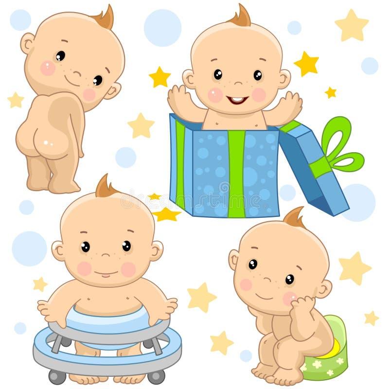 Babyjongen 9 deel royalty-vrije illustratie