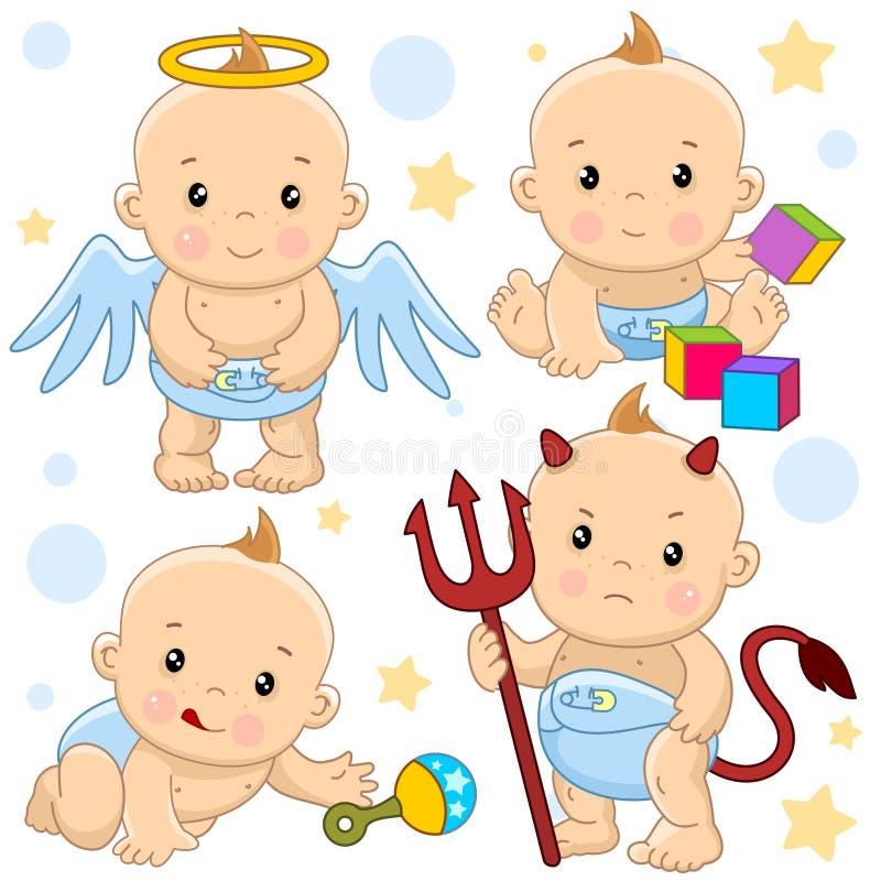Babyjongen 10 deel stock illustratie