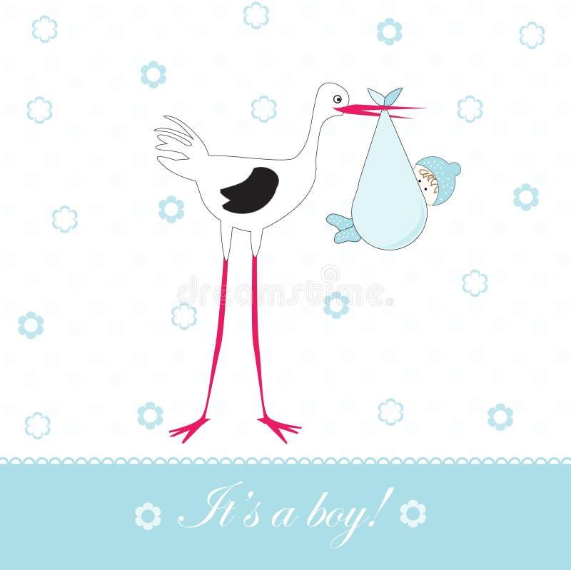 Babykarte lizenzfreie abbildung