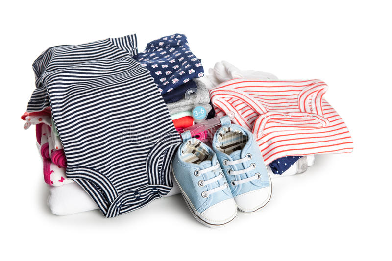 Babykleding royalty-vrije stock afbeeldingen