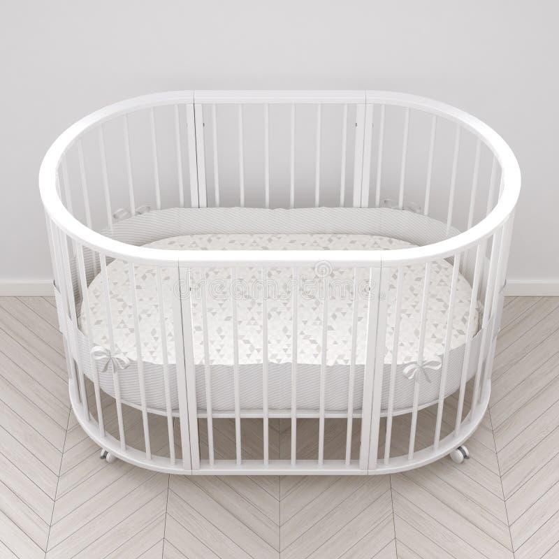 Babykrippe, Innenarchitektur stock abbildung