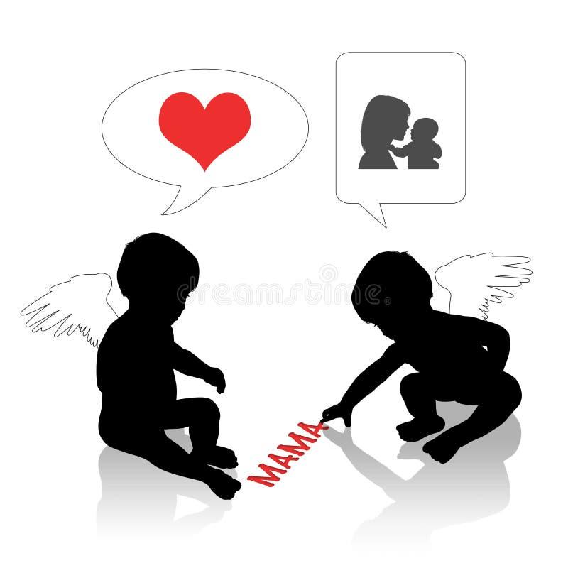 Babyliebe für Mutter vektor abbildung