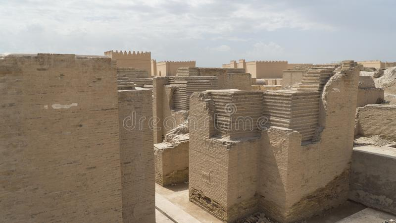 Babylon city, Iraq. Ancient city of Babylon, Iraq royalty free stock images