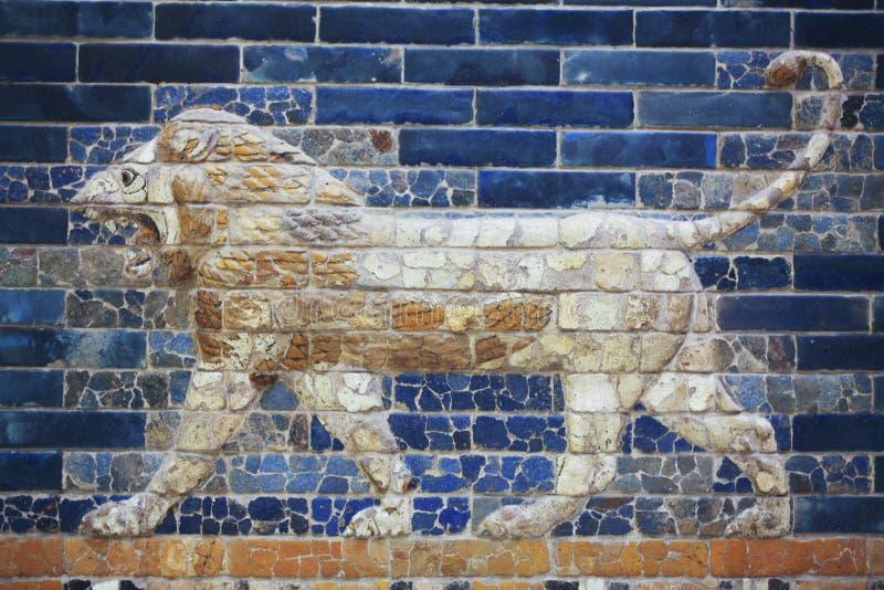 babylon lion arkivfoto