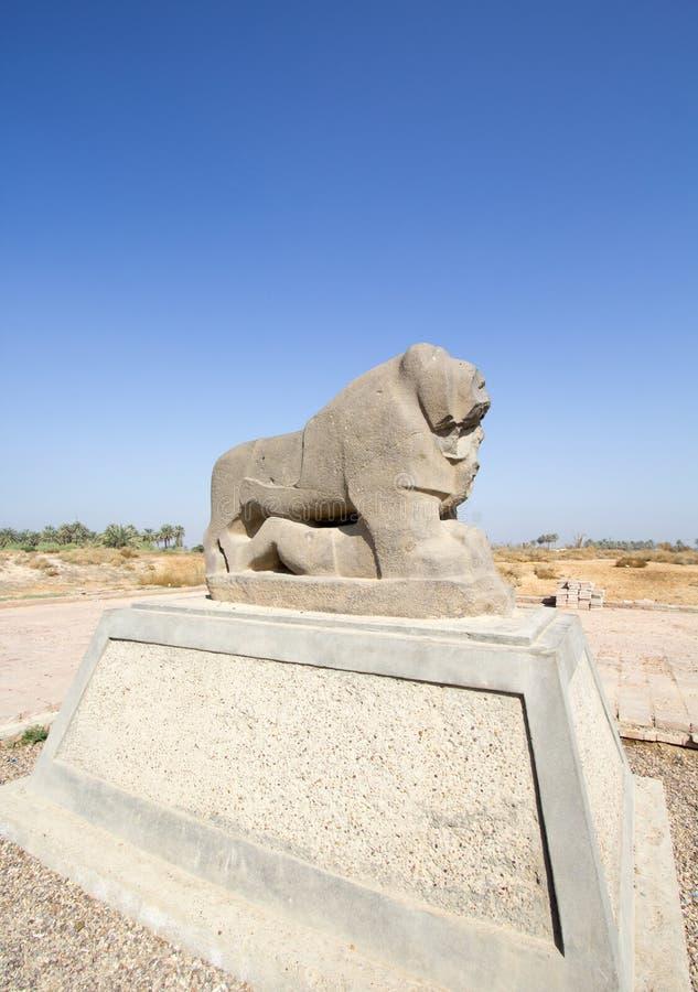 Babylon lwa statua zdjęcie stock