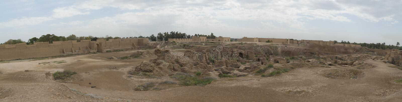 Babylon stad, Irak royaltyfri bild