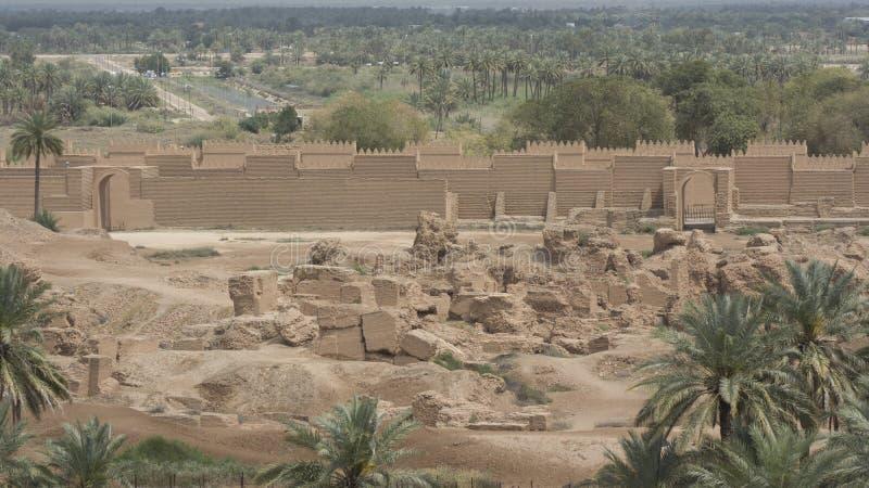 Babylon stad, Irak arkivbild