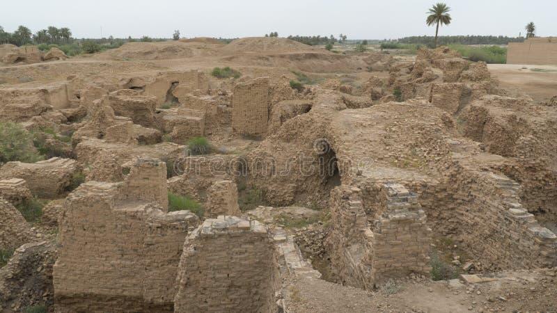 Babylon stad, Irak royaltyfri foto