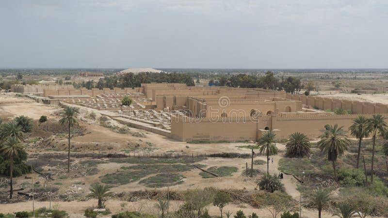 Babylon-Stadt, der Irak stockbild