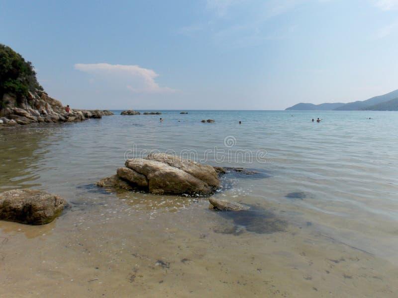 Babylon strand, Grekland arkivfoton