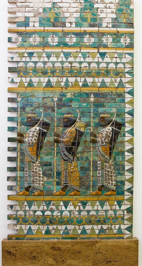 Babylon vägg arkivfoto
