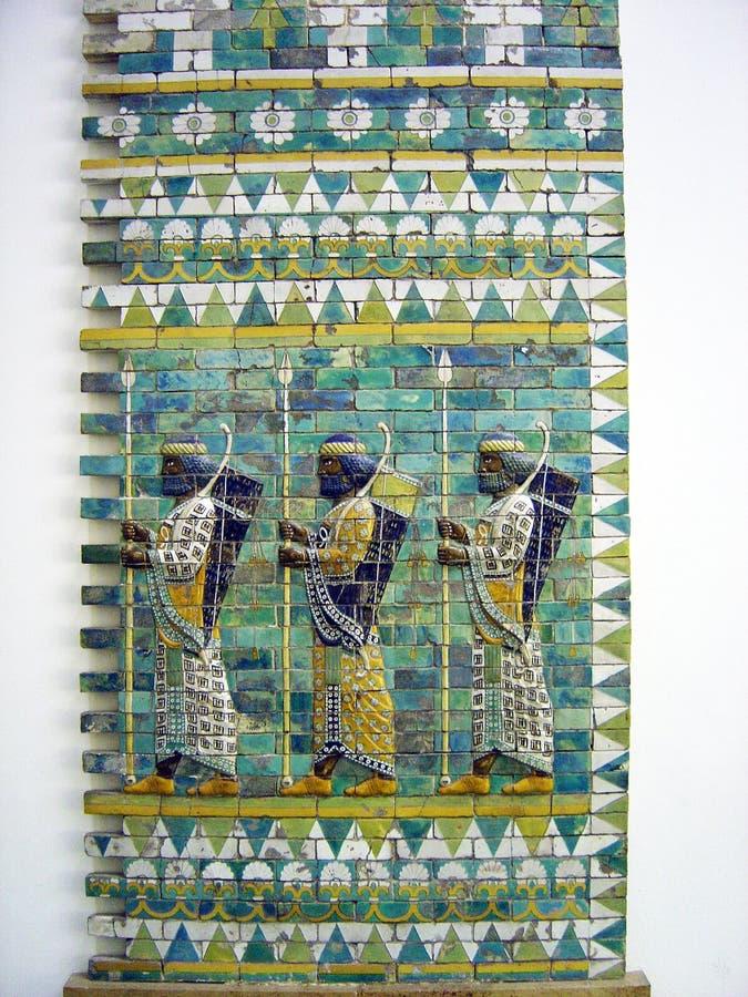 Babylon vägg arkivbilder