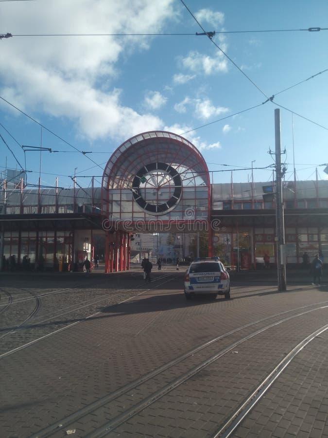 Babyloncentrum, Tsjechische Liberec, stock afbeeldingen
