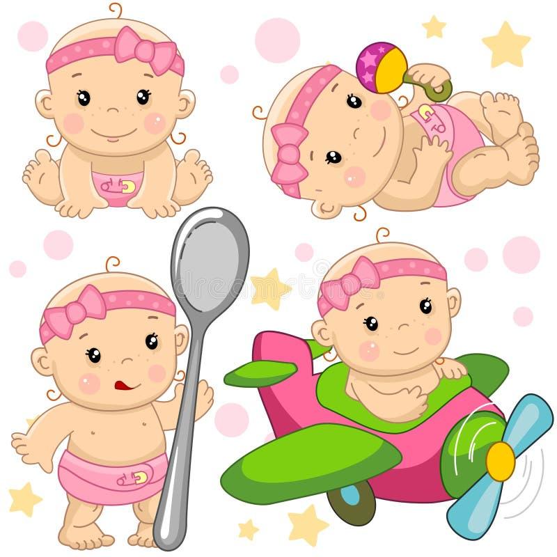 Babymeisje 11 deel royalty-vrije illustratie