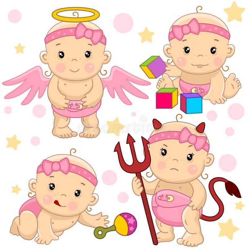 Babymeisje 10 deel royalty-vrije illustratie