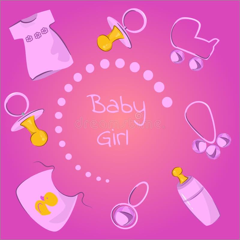 Babymeisjes royalty-vrije illustratie