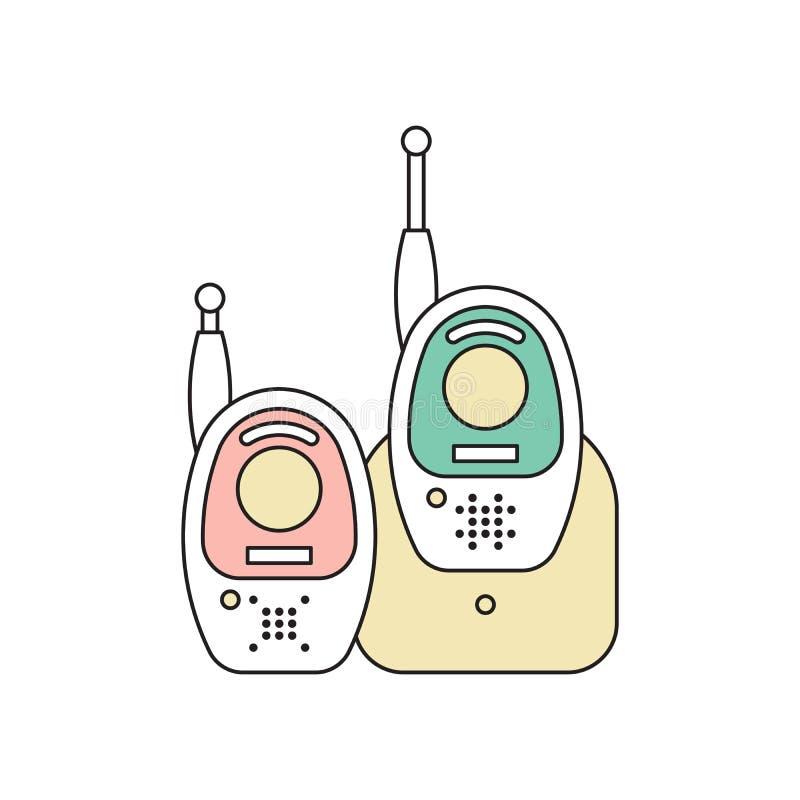 Babymonitor 1 stock illustratie