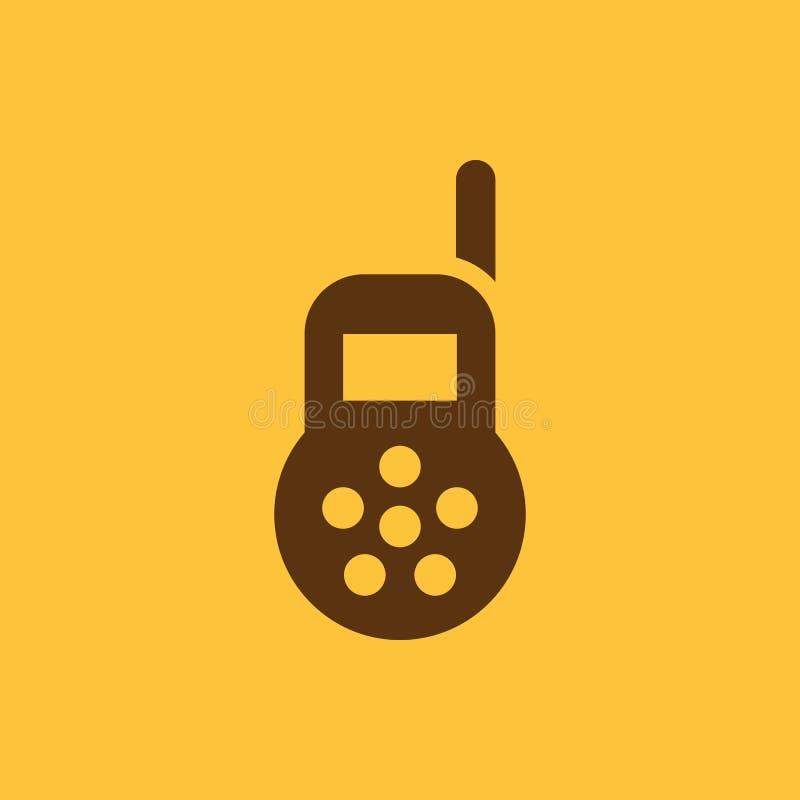 Babymonitorikone Entwurf Radio, Babymonitorsymbol web graphik ai app zeichen nachricht flach bild zeichen ENV Kunst vektor abbildung