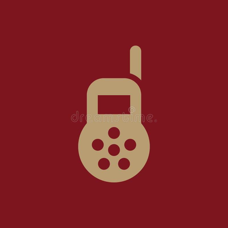 Babymonitorikone Entwurf Radio, Babymonitorsymbol web graphik ai app zeichen nachricht flach bild zeichen ENV Kunst stock abbildung