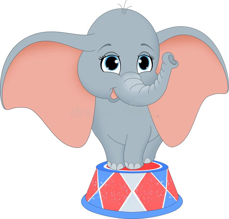 Babyolifant in Circus stock illustratie