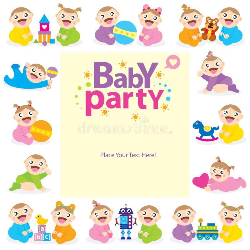 Babypartei-Duscheinladung vektor abbildung