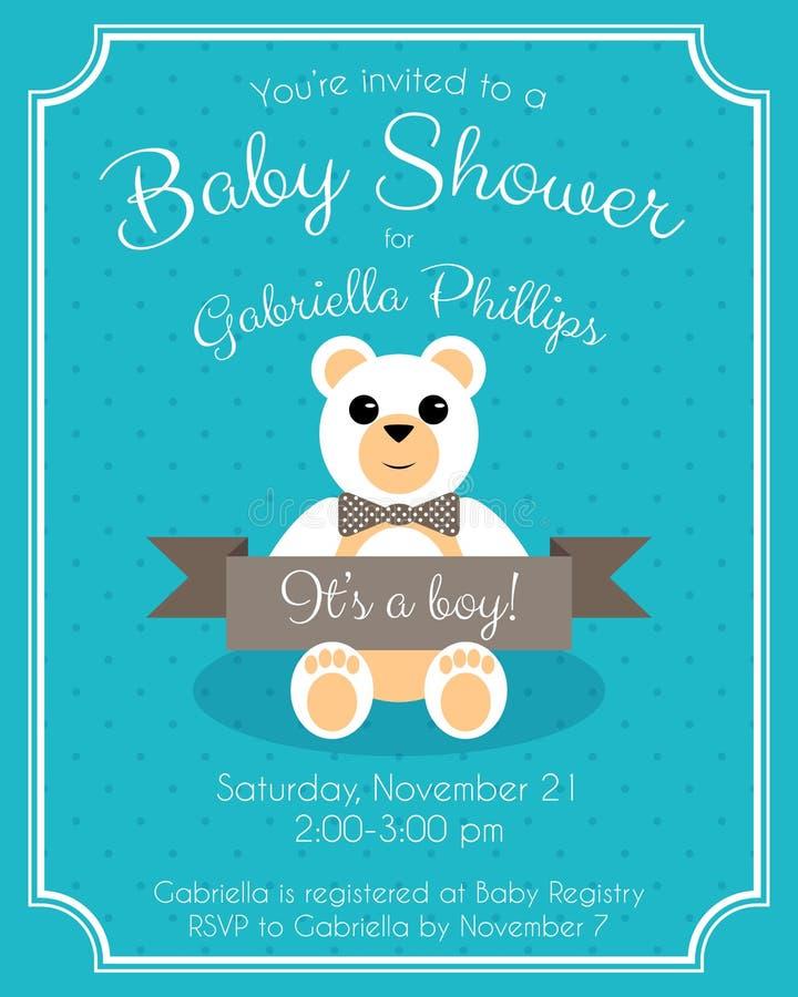Download Babyparty Einladung Vektor Abbildung. Bild Von Geburt   53703789