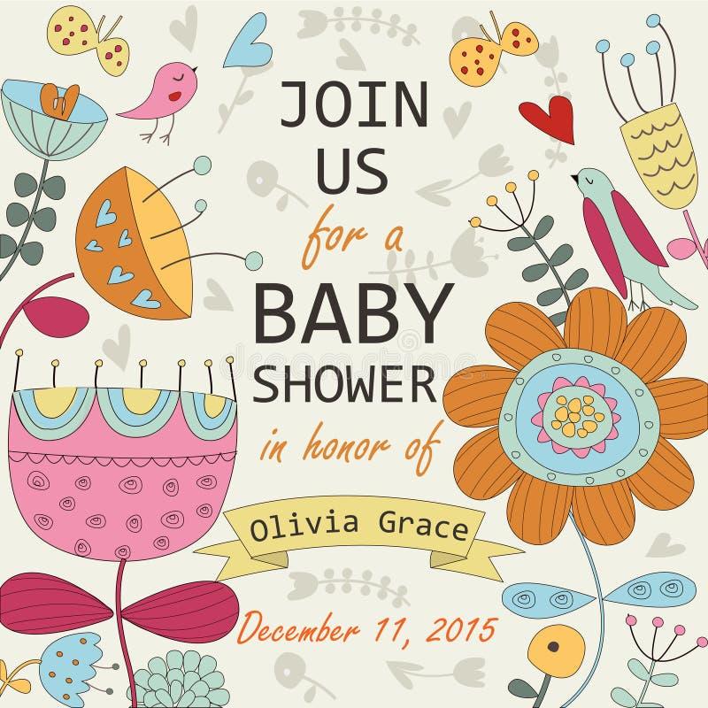 Babyparty-Einladung stock abbildung