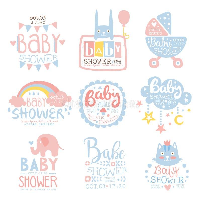 Babyparty-Einladungs-Schablone In Der Pastellfarbsammlung Designen ...