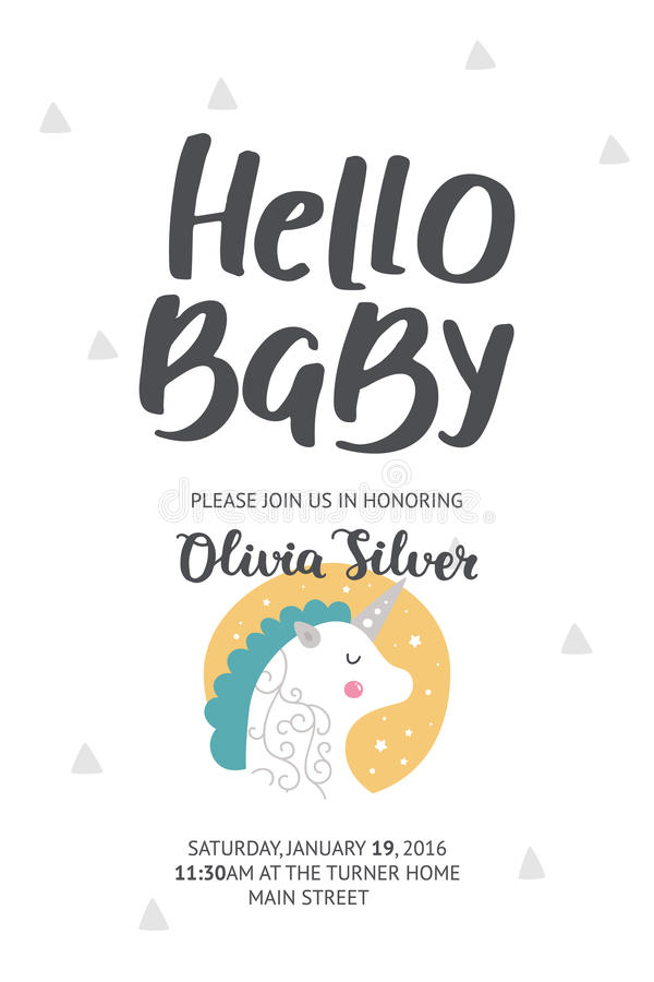 Babyparty-Plakat vektor abbildung
