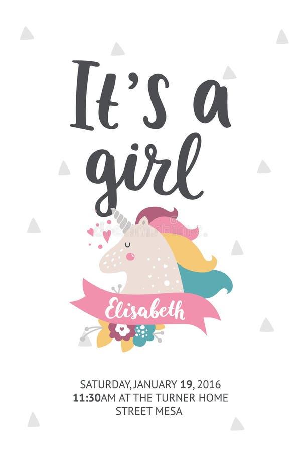 Babyparty-Plakat lizenzfreie abbildung