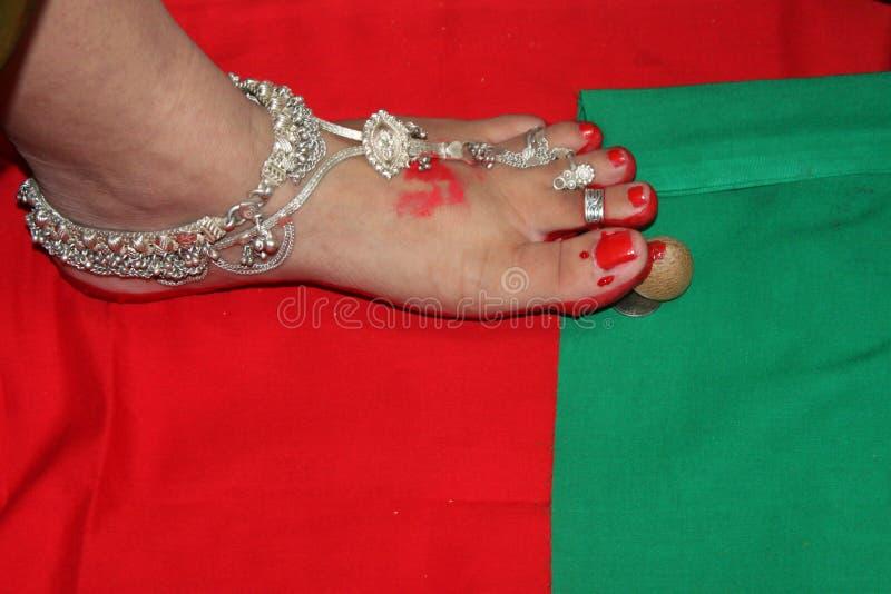 Babyparty-Zeremonie - Indien stockbilder