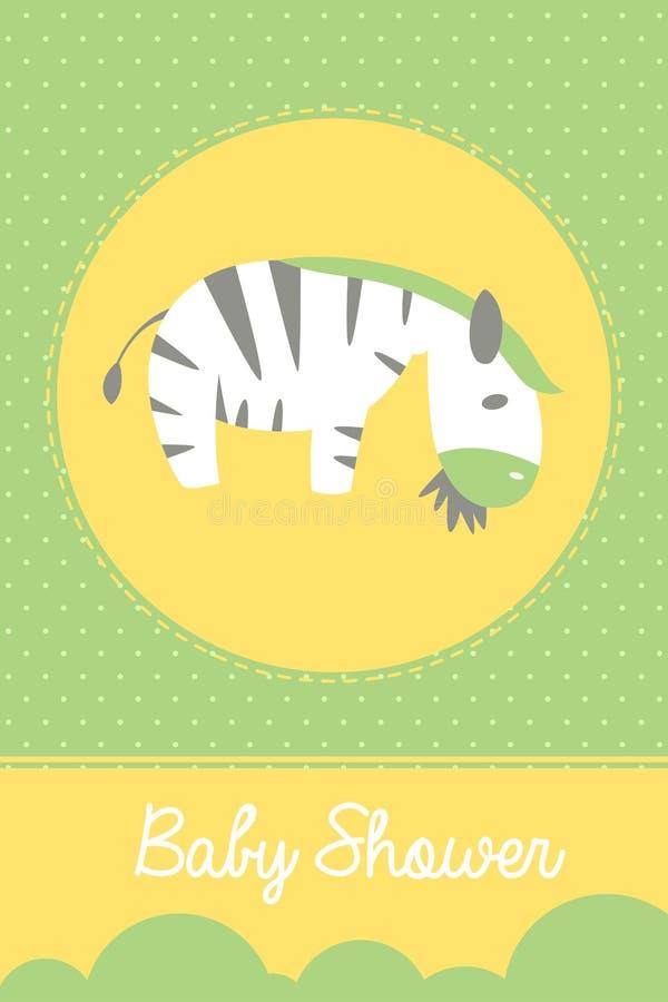 Babypartygrußkarte stockbilder