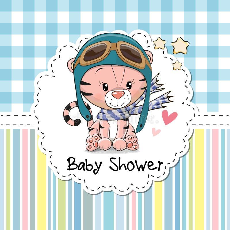 Babypartygrußkarte stock abbildung