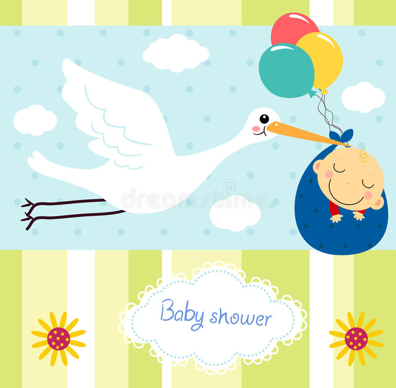 Babypartykarte lizenzfreie abbildung